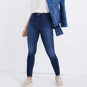 MADEWELL Medium Wash Curvy High Rise Skinny Jeans